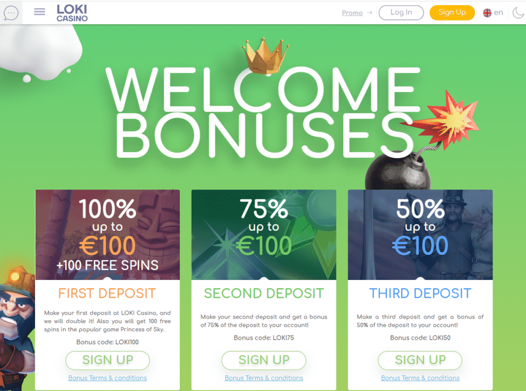 loki casino welcome bonuses